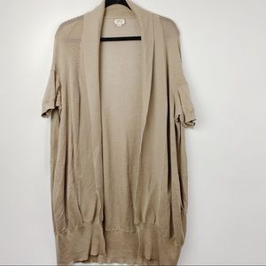 Aritzia Wilfred open long  cardigan with pockets
